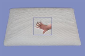 supply24 Orthopädisches Gel Gelschaum Kopfkissen Bauchschläferkissen Nackenstützkissen 80 x 40 x 9 cm Schlafkissen für Bauchschläfer Softes/Weiches Kissen - 2